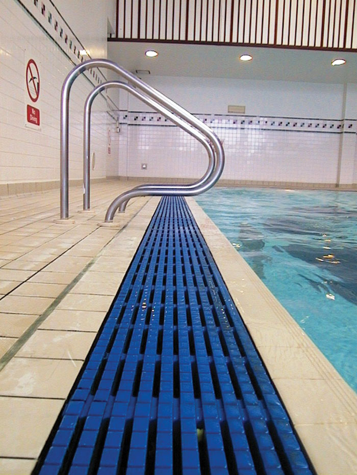 swimming pool grating overflow grating from anti wave